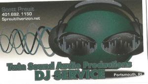Twin Sound Audio Business Card